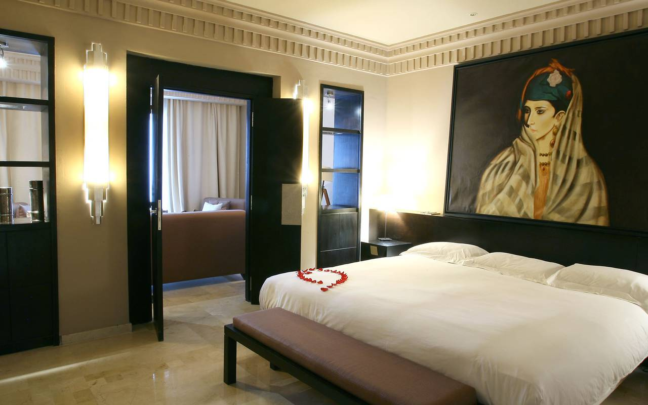 bedroom of the junior suite
