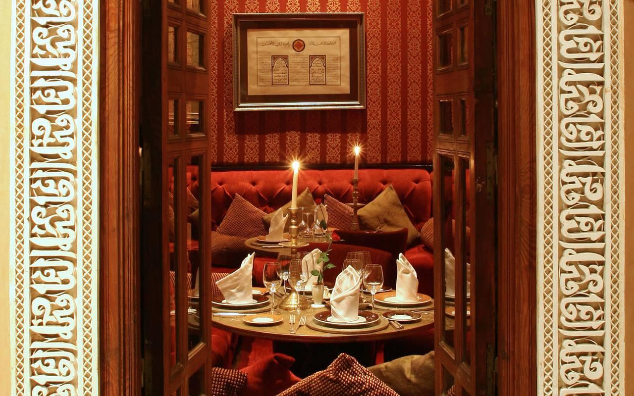 Moroccan restaurant koutoubia Marrakech