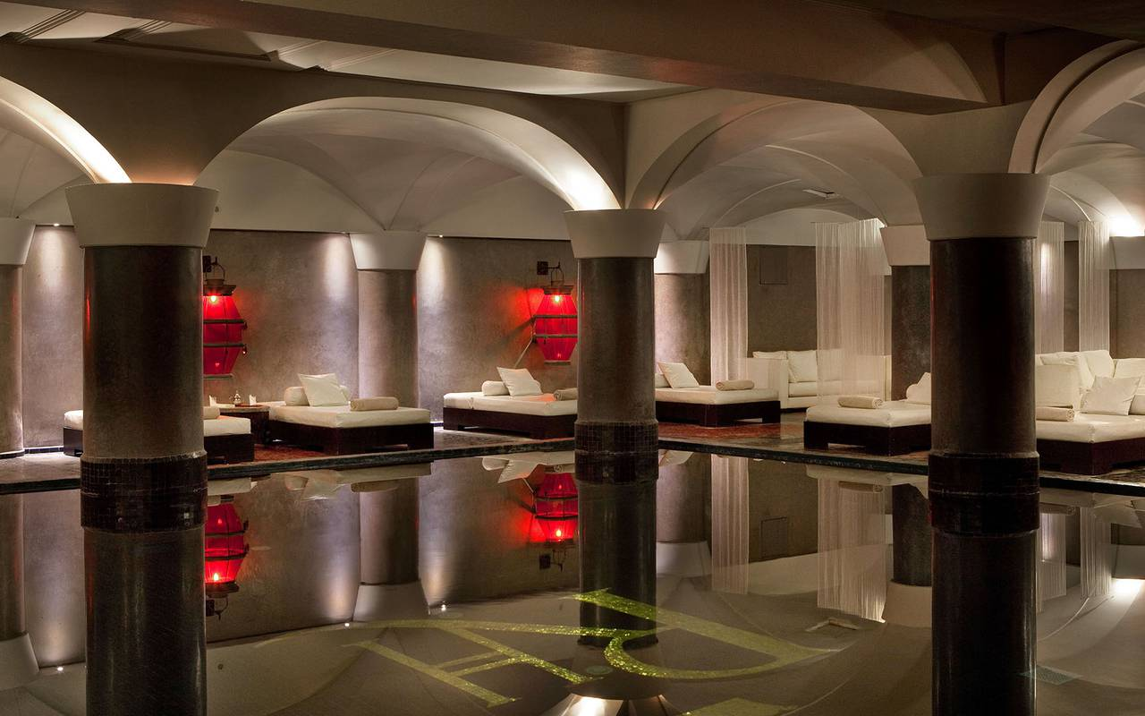 luxurious SPA with indoor swimming pool