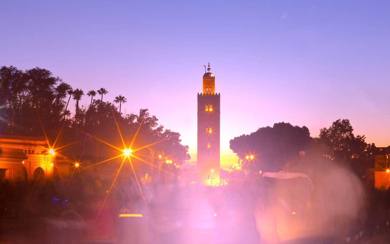 Marrakech morocco tourism jardins de la koutoubia for Jardin koutoubia