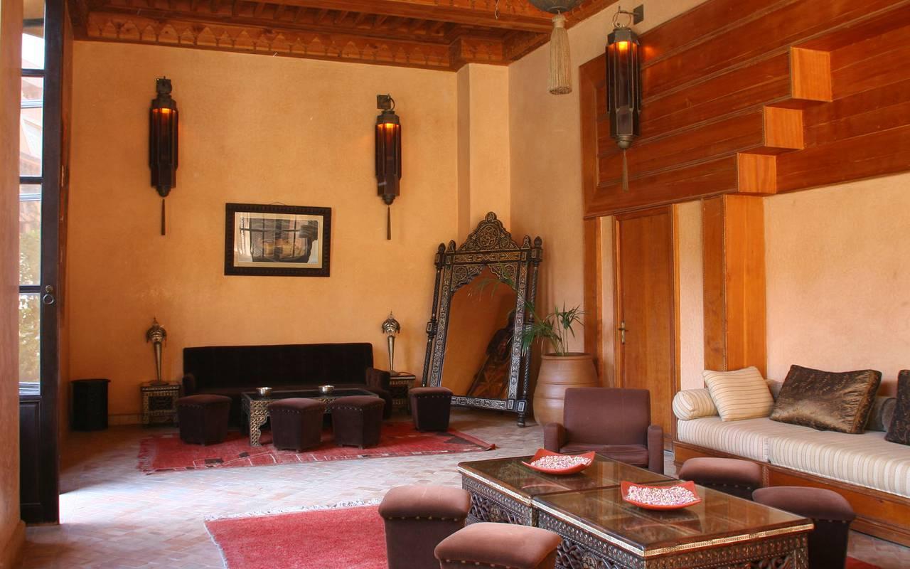 salon traditional marocain koutoubia hôtel