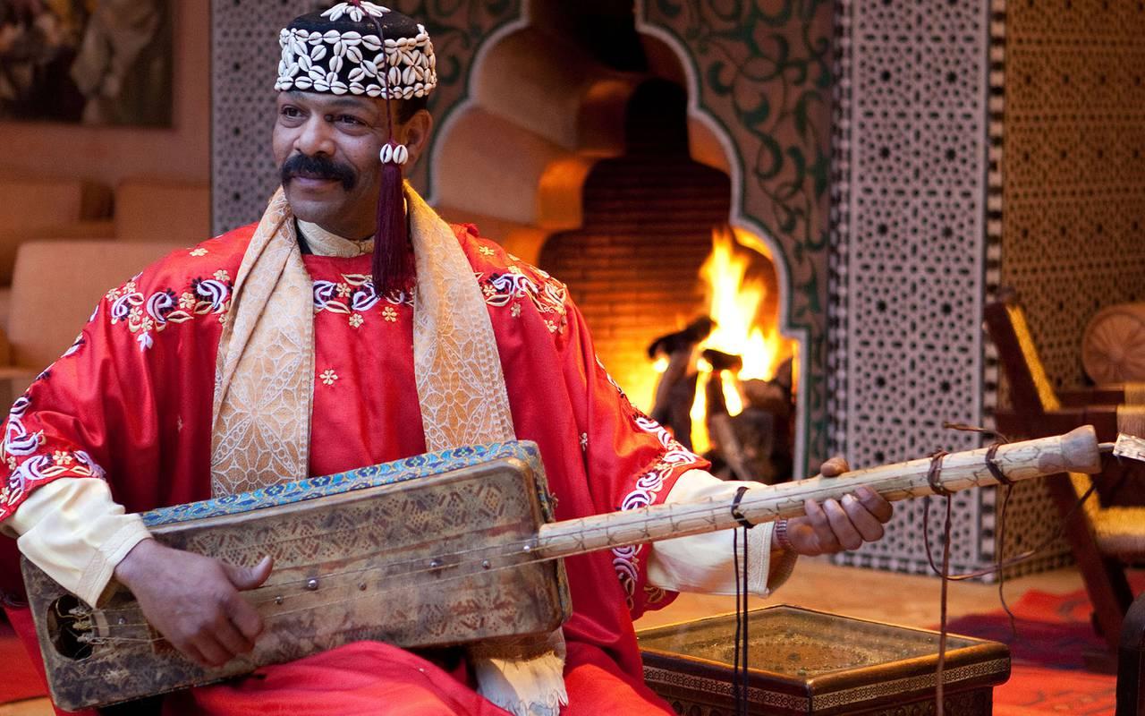 Musicien marocain traditionnel
