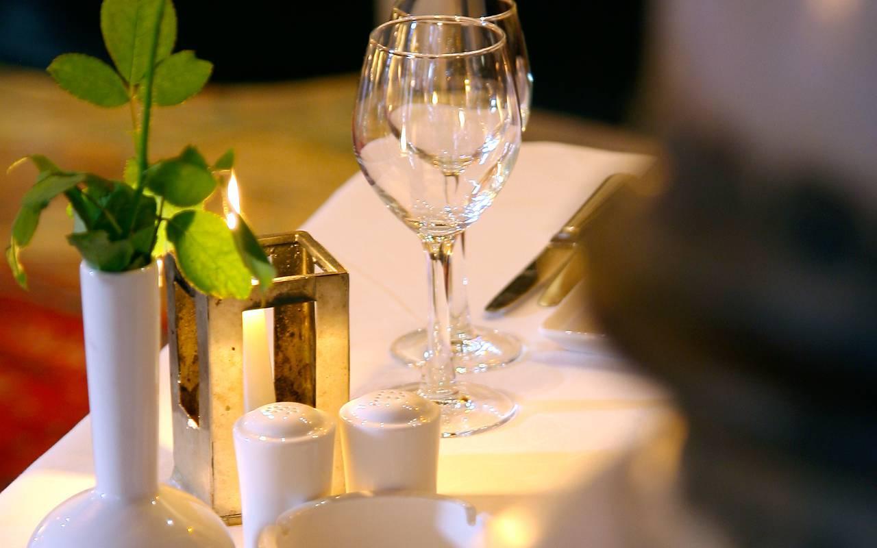 verre à vin restaurant Marrakech